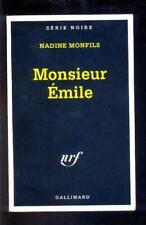 Nadine MONFILS Monsieur Emile, Série Noire 2501 1998