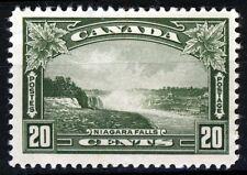 Canada king george vi 1935 20c. vert olive niagara falls sg 349 mint