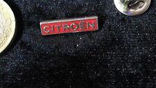 Citroen Pin Badge Logo Schriftzug rot silber Schriftzug