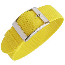 20mm EULIT Panama Yellow Tropic Woven Nylon Perlon German Made Watch Band Strap