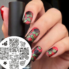 Nail Art Stamp Stamping Template Image Plate Rose Pattern BORN PRETTY BP73
