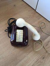 Antikes Telefon Fernsprecher Telephone Rot Trommelwähler Trommler SIEMENS Alt