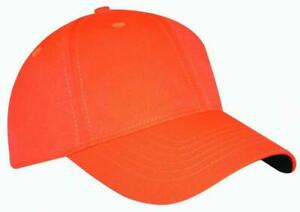 Hunters Youth Blaze Orange 6-Panel Snap-Back Baseball Cap OSFM FAST SHIP! F73