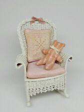 Vintage McCurley Wicker Rocking Chair Dollhouse Miniature 1:12