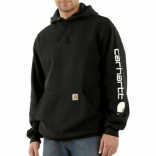 CARHARTT Men's Authentic Signature Sleeve Logo Hooded Sweatshirt K288 Black 2XL