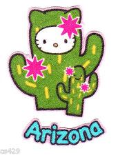 """2"""" HELLO KITTY SANRIO STATE OF USA ARIZONA FABRIC APPLIQUE IRON ON"""