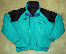 Columbia Powder Keg Ski Jacket 3 in 1 Vtg Winter Coat Men's L Green Purple Black