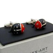 Black Ladybird Ladybug Cufflinks by Onyx Art New Gift Boxed CK637