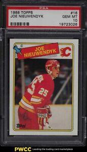 1988 Topps Hockey Joe Nieuwendyk #16 PSA 10 GEM MINT