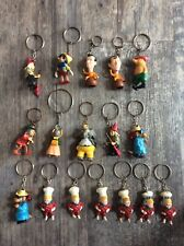 More details for 17 rare vintage dutch flipje, football, nursery rhyme keyring's from 1960's