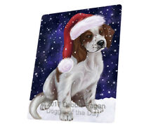Let it Snow Red And White Irish Setter Dog Tempered Cutting Board Large Db24