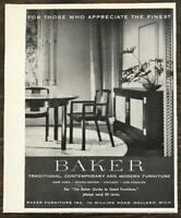 1955 Baker Furniture Inc.Holland Michigan Print Ad For Those Who Appreciate the