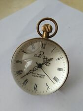 Chinese vintage Brass Glass pocket watch Ball clock
