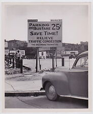 Parking Lot Billboards Cars SIGNS Iconic VINTAGE 1946 press photo * EXCELLENT