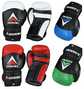 Aamron® Leather Boxing Gloves Training Muay Thai Fight Punch Bag Sparring BGC101