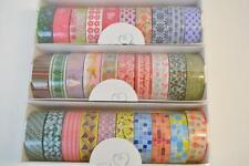 30 Roll Lot of CraftyRolls Washi Tape 10M Length Christmas Flowers & Shapes NIB