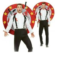 Deluxe Knife Thrower Costume - Fancy Dress Circus Showman Performer Outfit