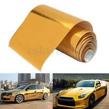 10x150cm Gold Chrome Vinyl Film Car Wrap Sticker Decal With Air Bubble Free