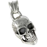 Totenkopf Anhänger Silber 925 großer Kettenanhänger Skull Biker Schmuck b234