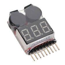 RC Boat Car Truck Battery Voltage Meter Tester Lipo Battery Monitor Buzzer Alarm