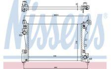 NISSENS Radiador, refrigeración del motor RENAULT CLIO FIAT PUNTO 61917