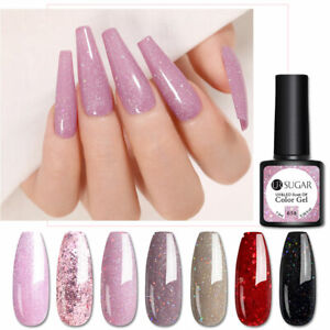 UR SUGAR Sequins Gel Nail Polish Set Colors Semi-permanent Glitter Nail Art Gel