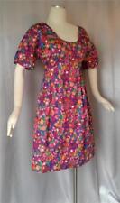 Flower Power! Pretty Floral Print Vintage 1960s Dolly Mod Mini Dress - M / L