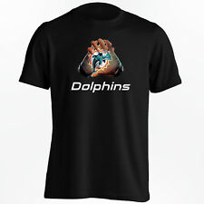 Miami Dolphins T-Shirt - NFL Gloves Design for S-5XL