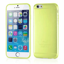iPhone 6 & 6s transparant case hoesje - geel