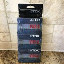 3 Pack TDK VHS-C Superior High Grade Camcorder Video Cassette Tapes 30 Min Each