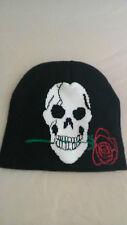 bonnet tête de mort et la rose  biker, moto, harley, choppers, triker, lady