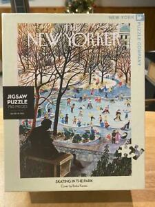 """NY Puzzle """"Skating In The Park"""" 750 Piece Jigsaw Puzzle Complete New Yorker"""