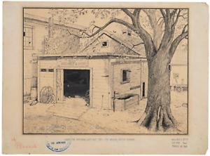 1924 Illustration Art Drawing Under The Spreading Chestnut Tree original art