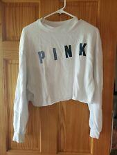 Pink Cropped Sweatshirt Size XS EUC