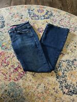 Levi's Womens Jeans Size 5M Too Superlow 524 Boot Cut Dark Wash Stretch Denim