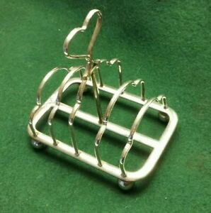 A small hallmarked Silver Toast Rack  Atkins Brothers 1920s