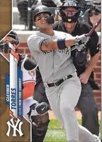 2020 Topps Series 1 Gleyber Torres Gold Border #'d 1207/2020 New York Yankees