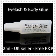 Eyelash Strip & Body Glue Strong Portable 2ml Natural Rubber Latex UK Seller