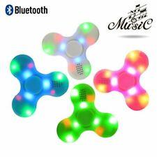 LED Bluetooth Tri Fidget Hand Spinner Music Speaker Desk Toy Gyro EDC-Blue,