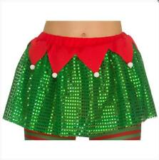 NEW Deluxe Elf Tutu - Xmas Ladies Funny Fancy Dress Christmas Accessory