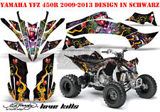 Amr racing décor Graphic Kit ATV yamaha yfz 450, yfz 450r Ed-Hardy lovekills B