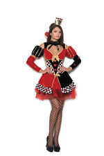 Queen of Hearts Halloween Costume XL Women Alice Dress Black Red Checker