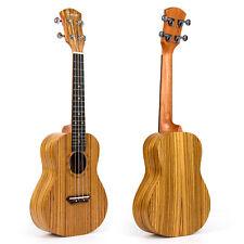 Kmise Concert Ukulele Hawaii Guitar Musical Instruments 23 Inch Zebra Wood W/Bag