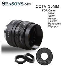35mm f/1.4 CCTV f1.7 Movie Lens for Canon Nikon Sony Fujifilm Panasonic Olympus