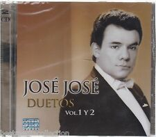 2 Discs - Jose Jose CD Duetos Vol 1 y 2 Set - Incluye 2 Cd's En 1 BRAND NEW