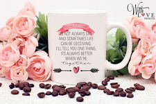 PERSONALISED BETTER TOGETHER COFFEE MUG TEA CUP VALENTINES DAY COUPLE GIFT