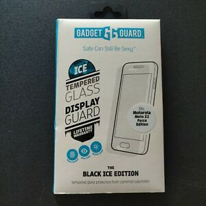 Gadget Guard Tempered Glass Screen Protector Black ICE Edition Moto Z2 Force