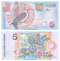 Suriname 5 Gulden 2000 P-146 Banknotes UNC