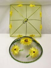 Vintage Picnic Kitchen Food Screen Mesh Cover Yellow Daisies and Sunflowers