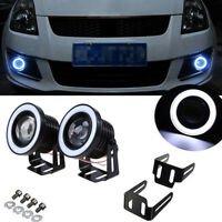 "2x 3.5"" LED COB Projector Fog Driving Lamp Angel Eye Halo Ring DRL Daytime Light"